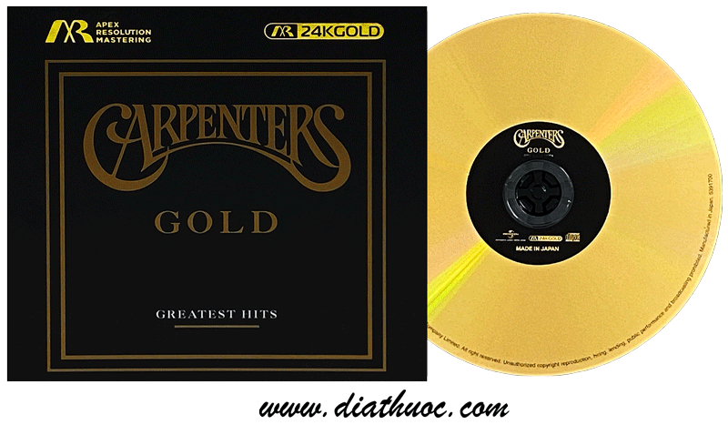CARPENTERS greatest hits 24K GOLD